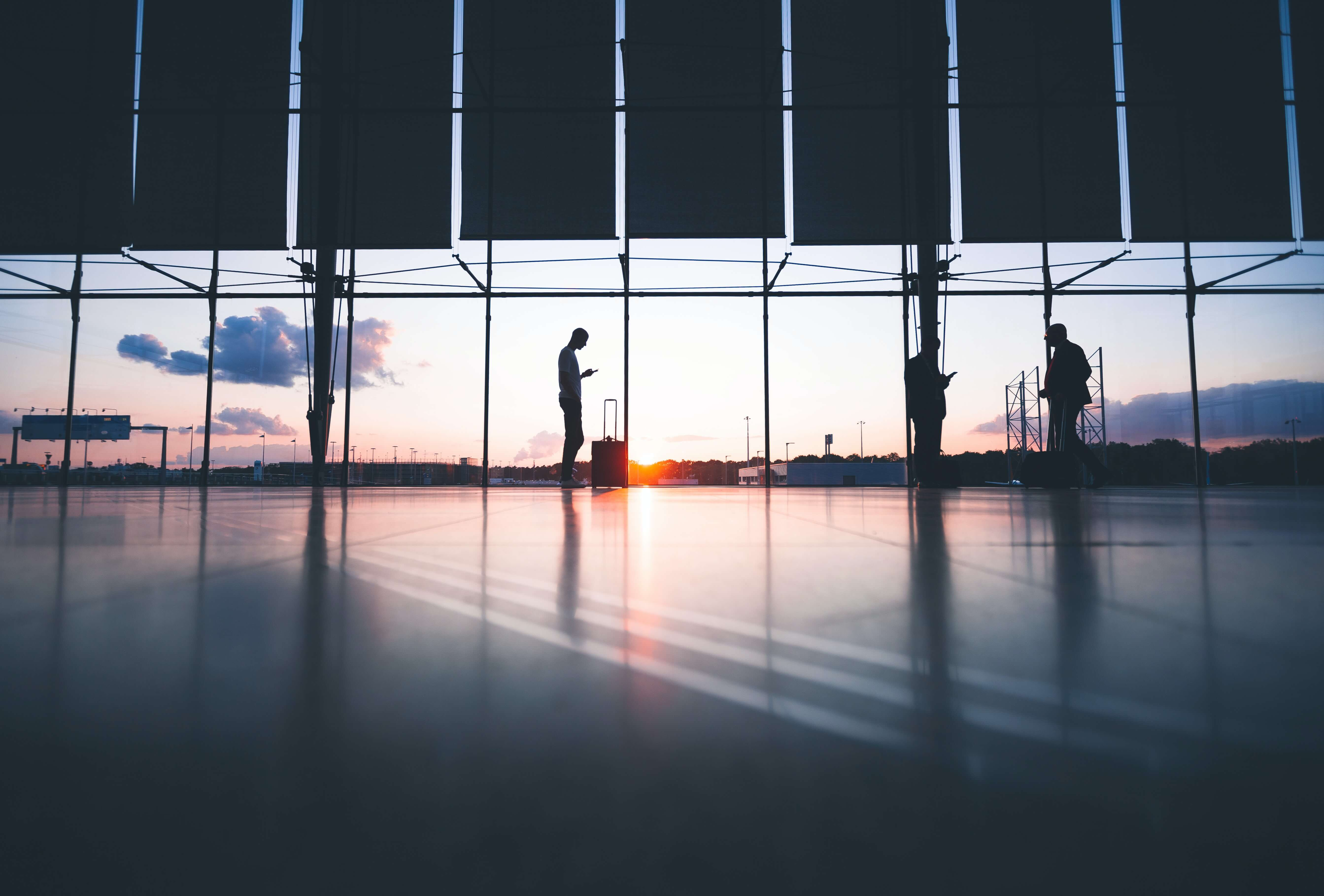 Image d'aeroport vide